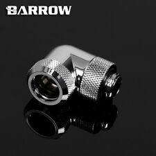 "Barrow G1/4"" Sliver 90 Degree Rotary Compression For 14mm Rigid tube -18"