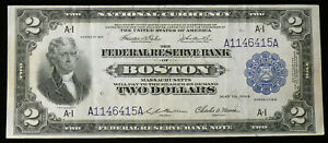 1918 $2 BOSTON BATTLESHIP FR-748 SOLID XF NOTE - SEE PICTURES