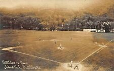 Brattleboro vs Keene VT League Baseball Game at Island Park Scoreboard RPPC