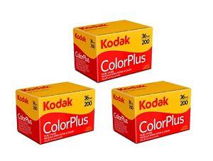 3 Rolls - Kodak Color Plus 200 - 35mm 36exp - 135-36