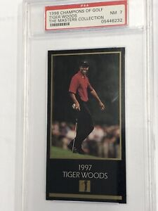 1998 TIGER WOODS Champions Of Golf Psa 7