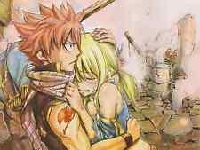 Poster A3 Fairy Tail Natsu Dragneel Lucy Heartfilia 02