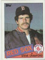FREE SHIPPING-MINT-1985 Topps #661 Steve Crawford Red Sox PLUS BONUS CARDS