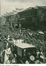 Document ancien garde nationale à Chang-Haï issue de magazine 1906