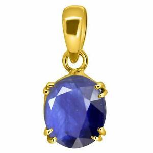 Natural Certified Handmade 6 Carat Blue Sapphire 14K Gold Locket For Girls&Women