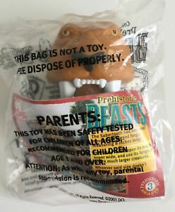 ARBYS Prehistoric Beasts Sabertooth Kids Meal Toy 2001 NEW Sealed