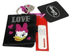 I Love Daisy Duck Porte-clé / Support de photos noir et rose coeur manche NEUF