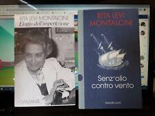 SENZ' OLIO CONTRO VENTO + ELOGIO DELL' IMPERFEZIONE  RITA LEVI MONTALCINI