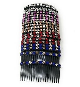 20 pcs Hair Comb Women Plastic Decorative With 18 Teeth Rhinestone Hair Side.