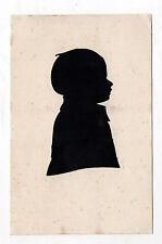 CARTE DÉCOUPÉE - OMBRE CHINOISE - ENFANT BÉBÉ - Vers 1920 Vintage Profil