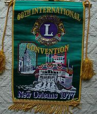 LIONS BANNER      60th INTERNATIONAL CONVENTION  1977 NEW ORLEANS