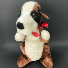 """St. Bernard Plush Superior Toy and Novelty Inc. Stuffed Dog 14.5"""" Tongue Out Bow"""