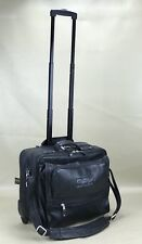"Canyon Outback BET Logo Genuine Leather 16"" Wheeled Laptop Briefcase Black"