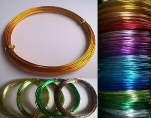 0.8mm 1mm 2mm Aluminium Craft Beading Wire Jewellery Making