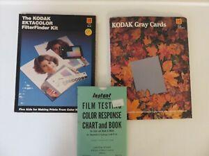 Kodak Ektacolor Filter Finder Kit,Gray Cards & Film Testing Color Response Chart