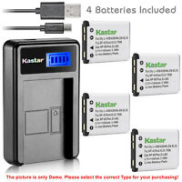 Kastar Battery LCD Charger for Fujifilm NP-45 NP-45A & FinePix J40, FinePix J100