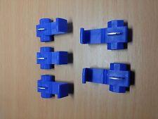 5 PACK - BLUE Snap / Scotch Lock Cable Connectors - Quick Splice (1.2 ~ 1.6mm)