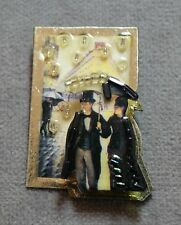"Bonnie Condor Enamel Signed ""Caillebotte And Me"" Pin~Image Paris St: Rainy Day"