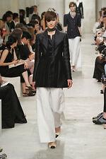 "CHANEL Leather SHOES Beige Black CC Logo Slingback Pumps Bows 3"" Heels 37 7 EXC!"