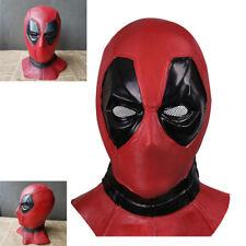 Deadpool Helmet Latex Full Head Mask Movie COSPLAY Halloween Props Adult Version