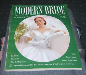 Summer, 1951 issue of Modern Bride Magazine fashions, etiquette