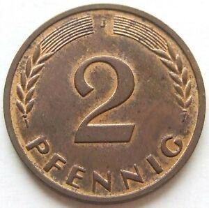 RARITÄT! 2 Pfennig 1969 J KUPFER FEHLPRÄGUNG in fast STEMPELGLANZ SELTENHEIT !!!