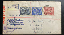 1945 Cumnock Australia Censored PatRiotic Cover To Kokomo In Usa