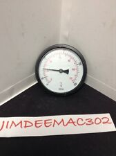 """New listing 4"""" Temperture Gauge Thermometer 4"""" Diameter W/ 1/2"""" Well 32-250 Degrees Enfm"""