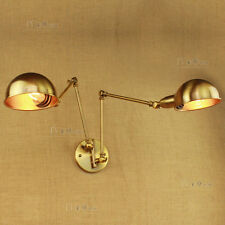 Antique Brass Double Wall Mount E27 Light Atelier Sconce Adjustable Wall Fixture