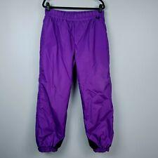Columbia Womens Snow Pants Lg Purple Elastic Waist Ski Snowboard Outerwear L