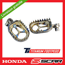 REPOSE CALE PIED TITANE HONDA 125 150 250 450 CR CRF CRF250R CRF450R SCAR