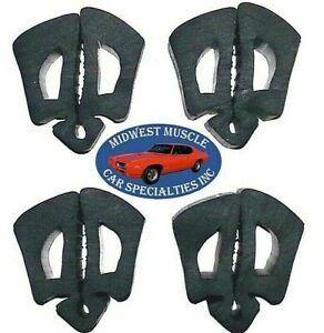 66-70 Ford Trunk Lid Hood Fender Cowl Door Jamb Glove Box Rubber Bumpers 4pcs O