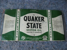 Vintage Canada Quaker State Oil Can Sign qt size