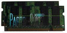 2GB Kit (2 x 1GB) PC2-5300 DDR2 SODIMM HP Pavilion dv8000t Notebook Memory RAM