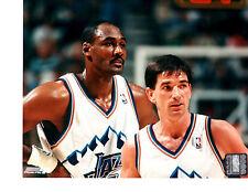 NBA LEGENDS KARL MALONE JOHN STOCKTON UTAH JAZZ 8X10 PHOTO VINTAGE BASKETBALL