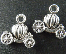 10pcs Tibetan Silver 3D Pumpkin's Car Charms 13x13mm ZN48341