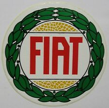 VECCHIO ADESIVO ORIGINALE AUTO / Old Original Sticker FIAT (cm 12)