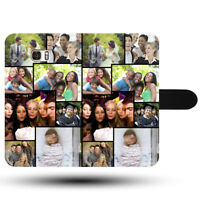 Photo Collage Personalised Custom Print Synthetic Fabric Rigid Phone Case Covers