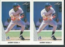 (2) 1990 Leaf      SAMMY SOSA      Rookie    Two RC's    #220