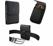 Vertical leather Belt Clip Holster For Samsung Galaxy S6&S7 fit Otterbox Case On
