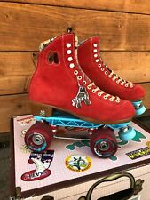 Moxi Lolly Roller Skates Poppy Red Size 6 With Sunlite Plate