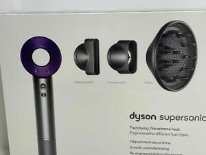 NEW Dyson Supersonic Hair Dryer in Purple Nickel w/ Attachments