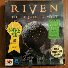 SEALED Riven: The Sequel to Myst Cyan Big Box Game CD ROM PC Game New NOS