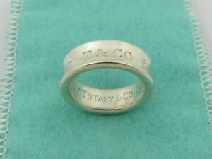 TIFFANY & CO Sterling Silver 1837 Ring Size 5.25