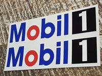 VINTAGE MOBIL 1 ONE Decal Sticker X2 Vintage Petrol Petroliana Hot Rod Stickers