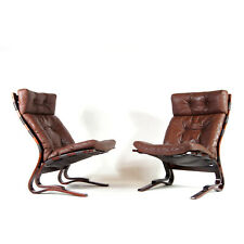 1 SOLD Retro Vintage Oddvin Rykken Leather Chair Armchair Rosewood Danish 1960s