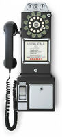 Crosley 1950's Old Fashioned Rotary Style Wall-Mountable Payphone