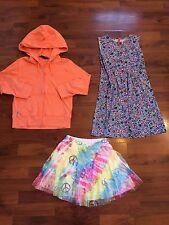 Girls Size 6 7 120 Hanna Andersson Ralph Lauren Dress Jacket Skirt Very Good