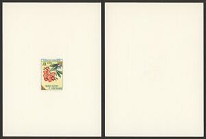 Upper Volta - Imperforate Miniature Sheet Proof Essay Mint Stamp Flowers S13