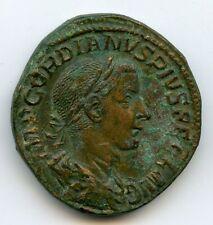 Gordian III (238-244) Sestertius Rome 241 Rv / Pmtr P Iiii Cos II Pp Quality